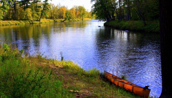 Canoe on St Croix River